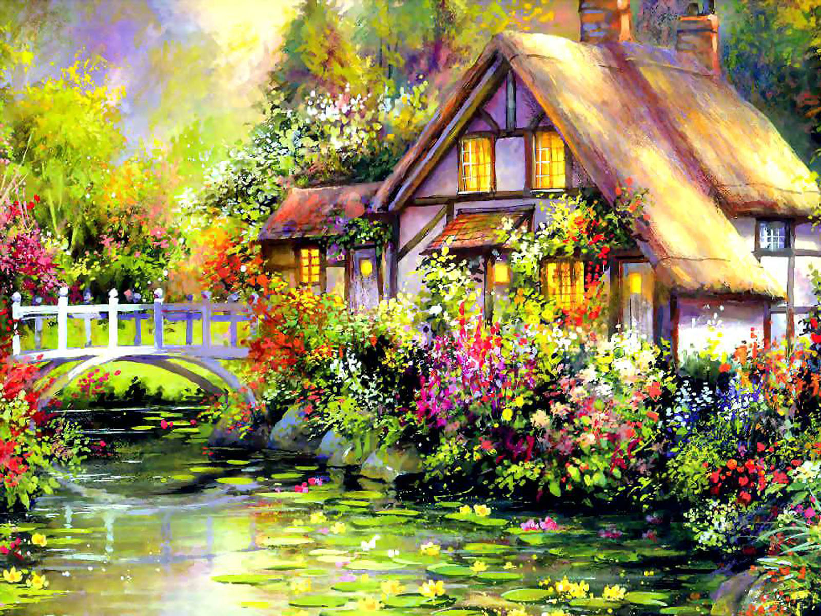 Wallpapers house art wallpapers for Classic house painting