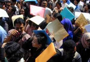 Lebih Tinggi Pemuda Penganguran di Indonesia