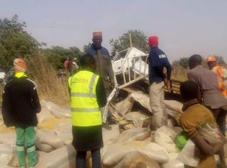 Photos: Road accident leaves five dead, others injured along Sokoto- Kebbi Road