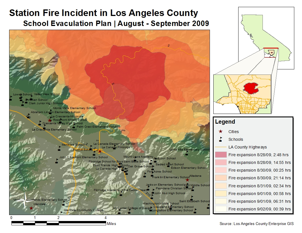 school evacuation report of la station fire incident