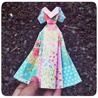 handmade by kikols: origami wedding dress :) - photo#24