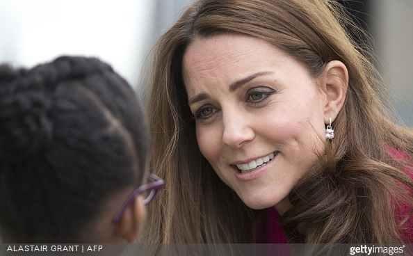Britain's Catherine, Duchess of Cambridge visited the Stephen Lawrence Centre on March 27, 2015 in London