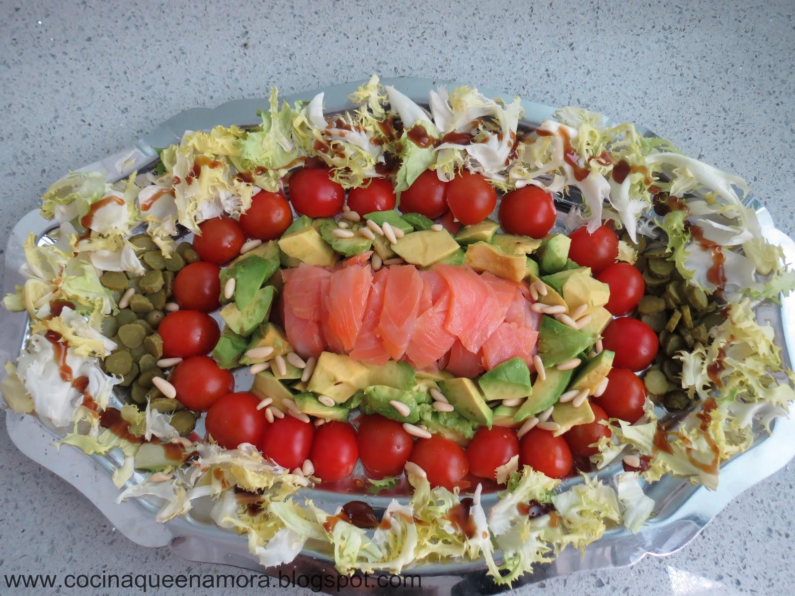 Cocina que enamora ensalada de salmon ahumado y aguacate - Ensalada de aguacate y salmon ahumado ...