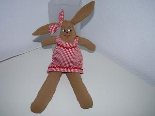 coneja de trapo, Irene, muñecas de tela, cosas de Marga