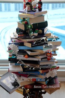 kitap ağacı christmas book tree book tree kitaptan yeni yıl ağacı