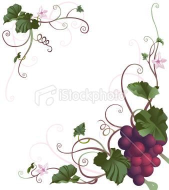 Grape Vine Border Clip Art Free