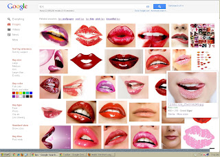 google search for lips