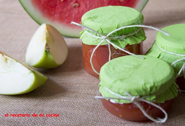 mermelada de sandia y manzana