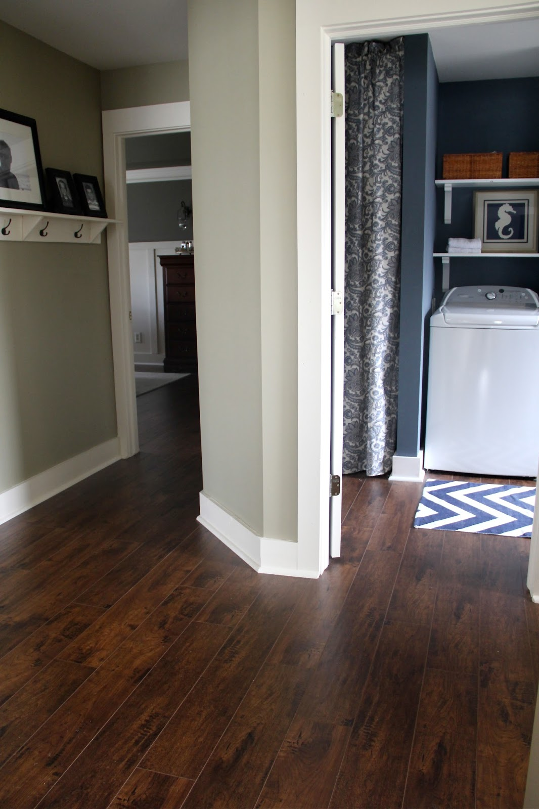 The yellow cape cod update and faq on my sams club floors for Color of hardwood floors