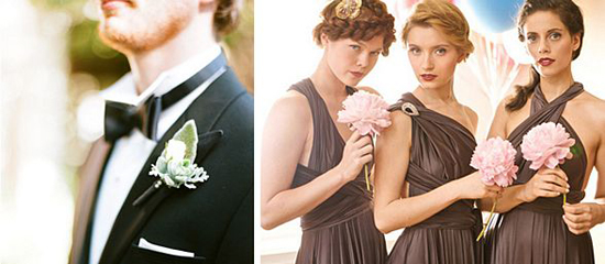 Multi-Way Bridesmads dresses and Classy Tuxedos