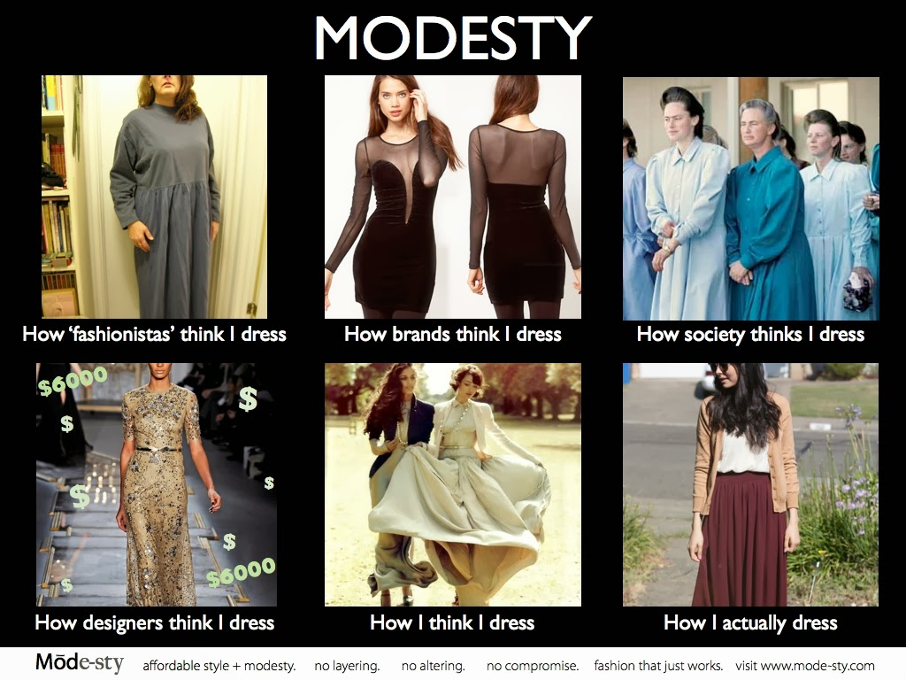 Funny modesty meme by Mode-sty.com online destination for stylish affordable modest fashion