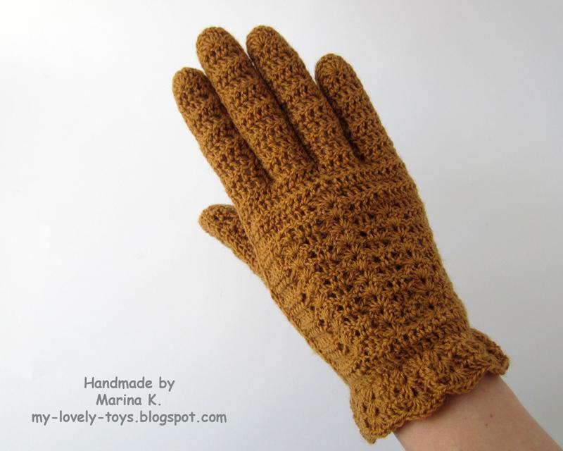 Перчатки крючком схемы вязания