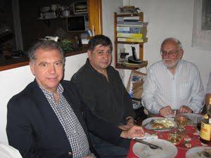 Historiadores Junta del Camino Real: Luis Mendiola, Juan A. Lucero, Edgardo J. Rocca