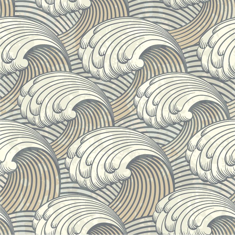 大きな白波の背景 big sea waves イラスト素材
