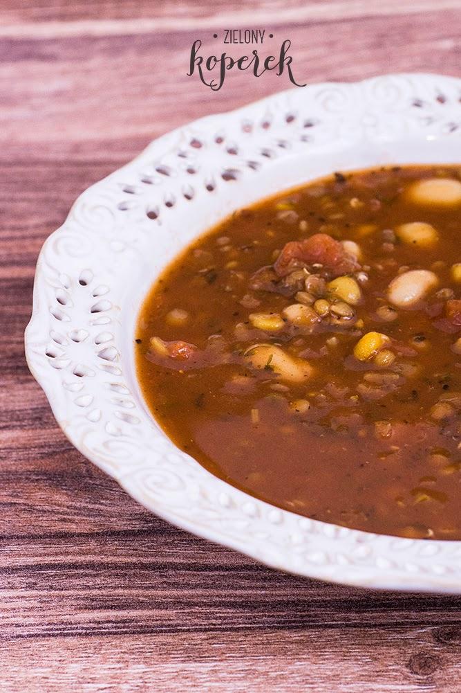 Zupa fasolowo - pomidorowa