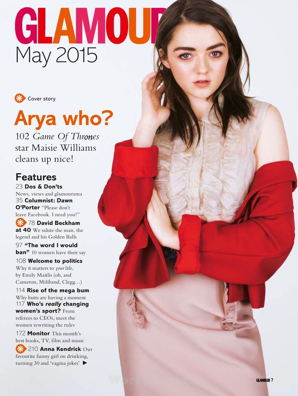 Maisie Williams - Glamour UK, May 2015