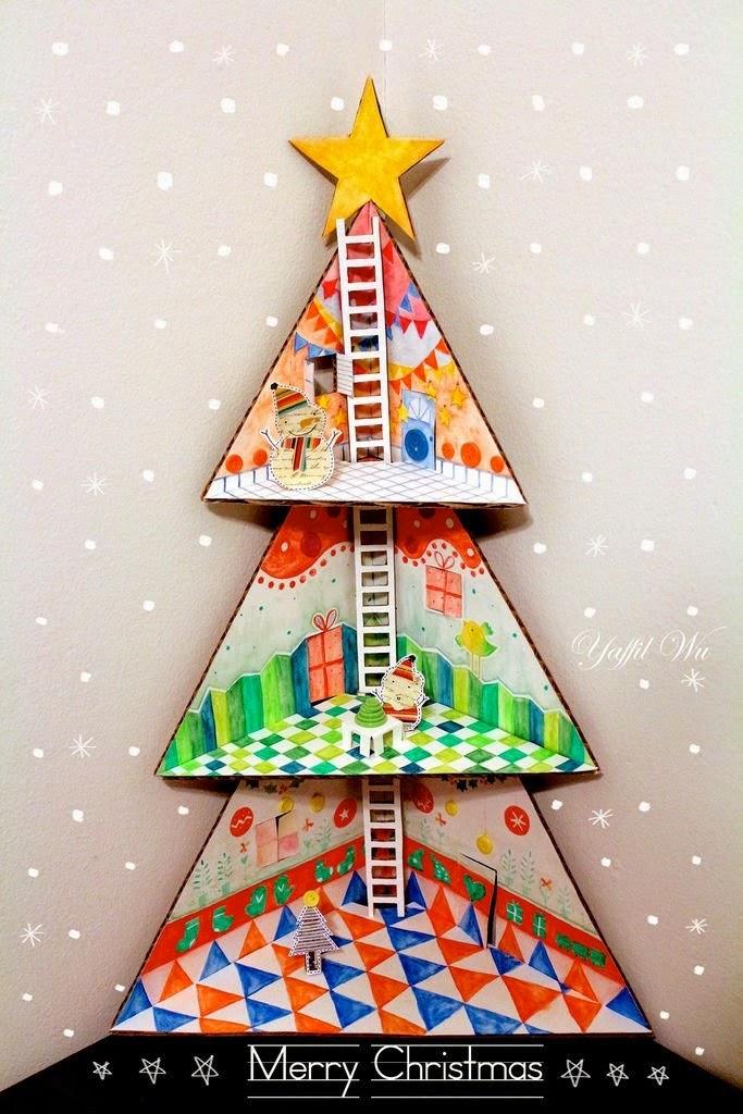 Χριστουγεννιάτικο δεντράκι κουκλόσπιτο-diy
