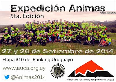 100k en dúos Expedición Ánimas (Sierra de las Ánimas, Maldonado, 27-28/sep/2014)
