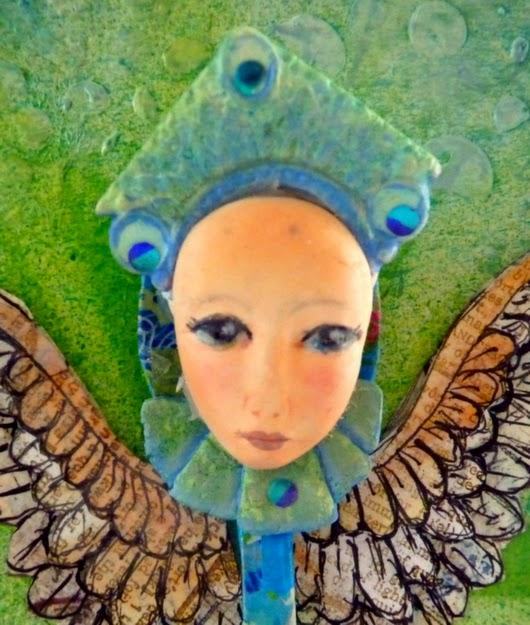 Whoopidooings: Carmen Wing - Mixed media spoon angel by Mistyrat on UKS