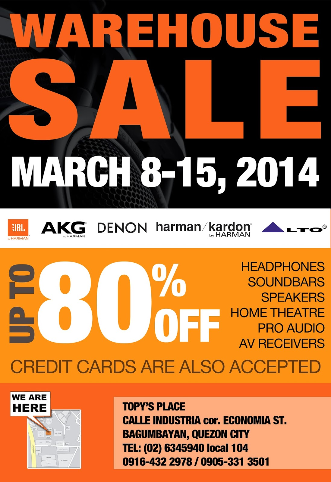 Beyond Innovations Warehouse Sale Poster