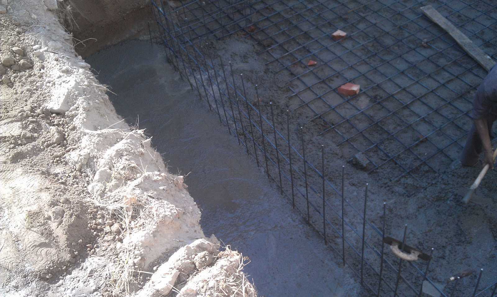 Home Construction Diaries Concrete Pouring For Basement Floor