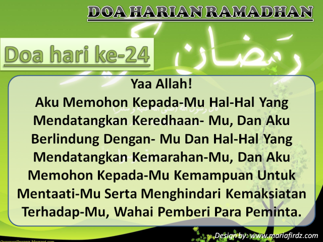 Doa Hari Ke-24