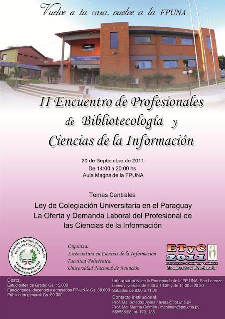 Imagen del Encuentro de Egresados de Bibliotecología y Ciencias de la Información