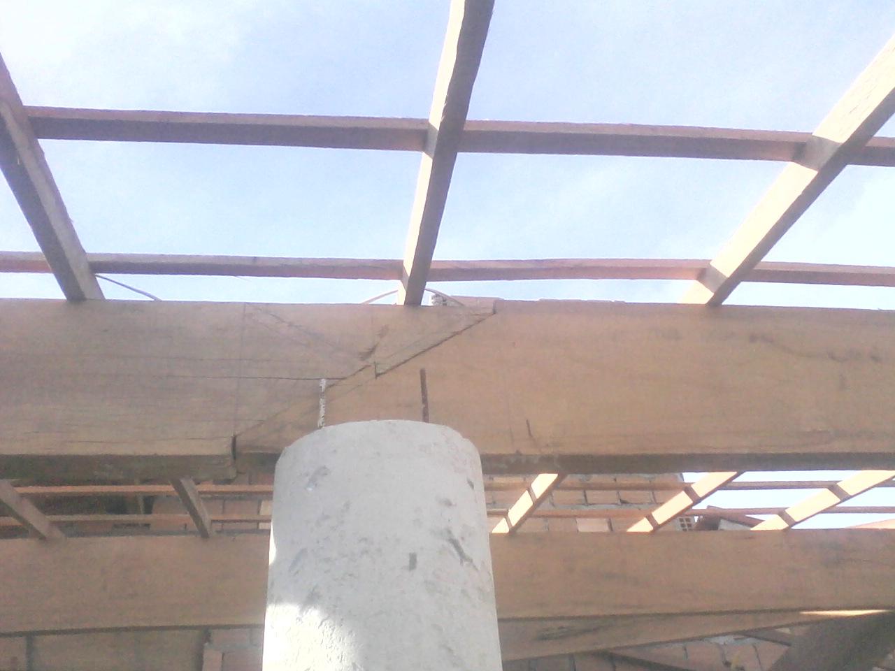 para telhado com madeira Angelin com emenda francesa parafusada #3B6890 1280x960