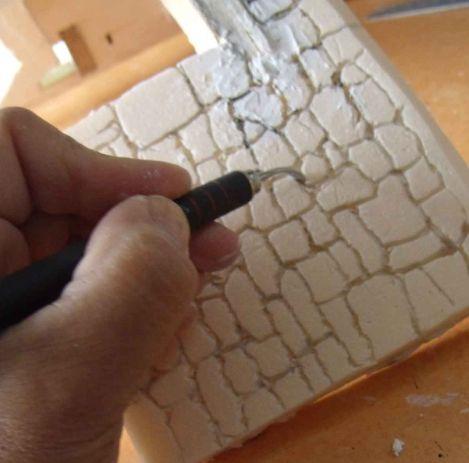 Patmo cr ations la maison d 39 emilie structure for Enduit sur polystyrene extrude