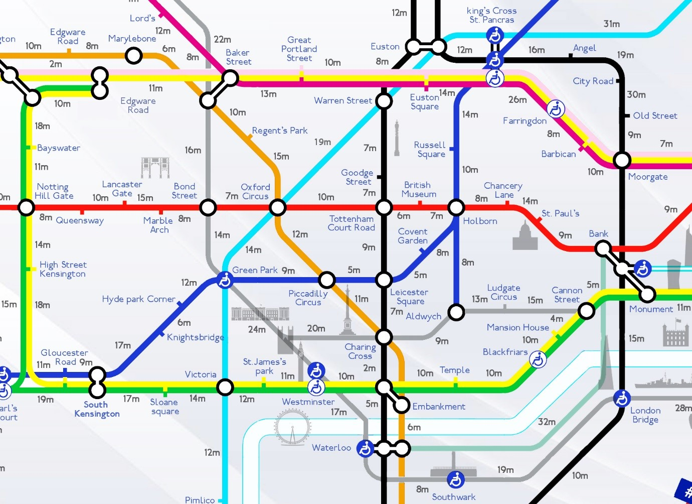 london map of the underground train routes tube stations