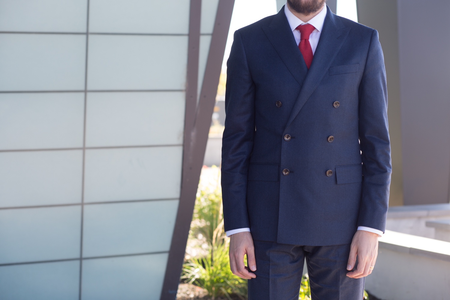 Jcrew Ludlow Double Breasted Suit
