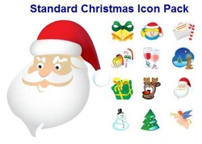 pack de iconos navideños para descargar