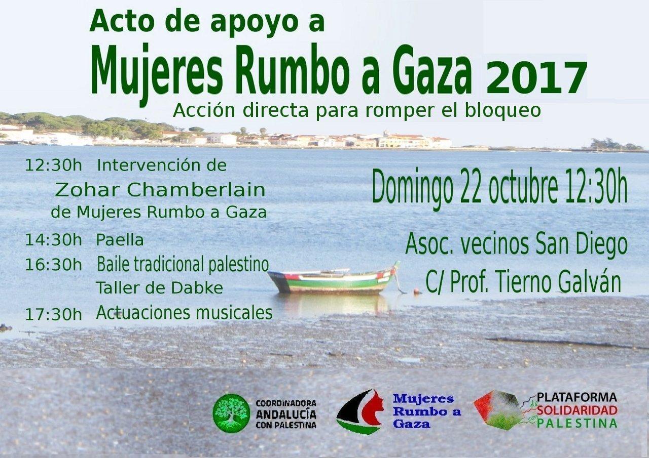 Domingo 22 Octubre, 12.30H: Acto de apoyo a MUJERES RUMBO A GAZA en Sevilla