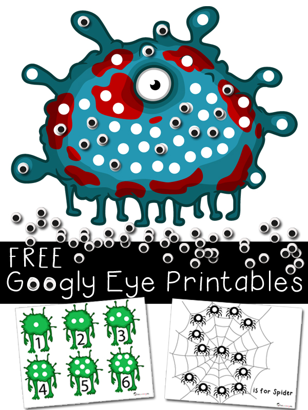 Halloween Activities & Printables with Googly Eyes   Totschooling ...