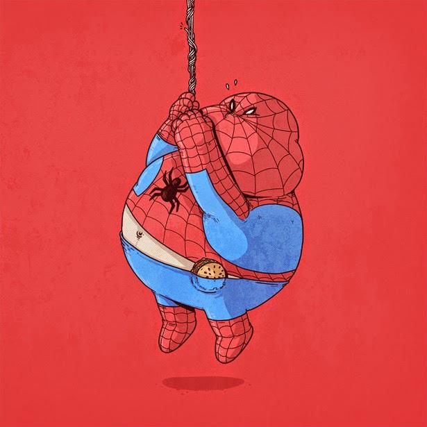 Spider-Man con sobrepeso