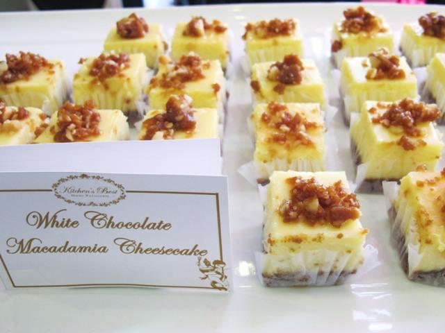 white chocolate macadamia cheesecake
