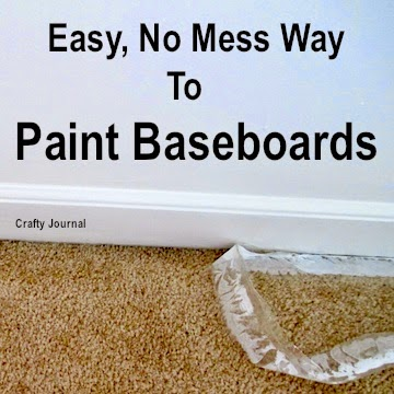 Easy, No-Mess Way to Paint Baseboards  @ Crafty Journal