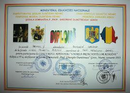 Premiul al II-lea - Casiana Budurcă (clasa  a X-a A)...