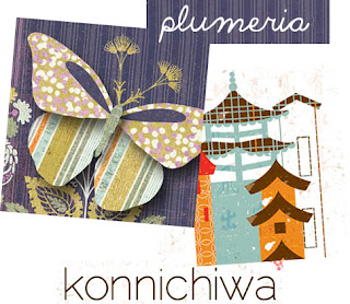 Basic Grey Plumeria and Konnichiwa