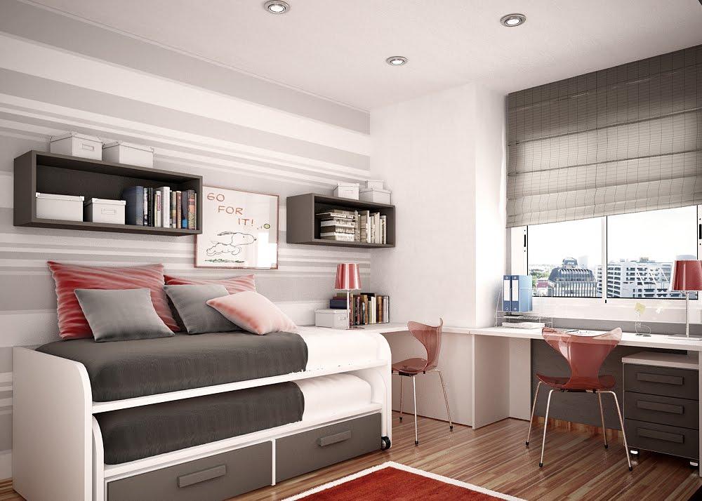 Decoracin De Cuartos Dormitorios Paredes Cortinas