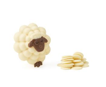 white sheep easter egg, thorntons chocolate