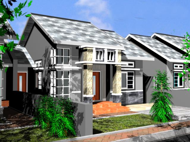 desain rumah denah minimalis type java