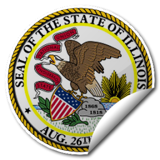 Sticker of Illinois Seal