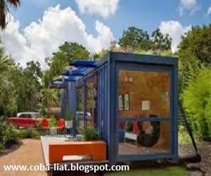 Rumah kontainer layak huni dan ramah