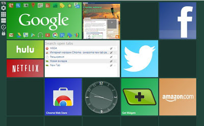 Пустая вкладка Chrome в стиле Windows 8