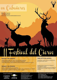 cartel festival del ciervo en cabañeros