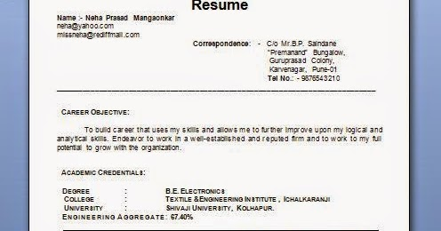 marriage resume in word marriage resume format kelleen matrimonial resume format