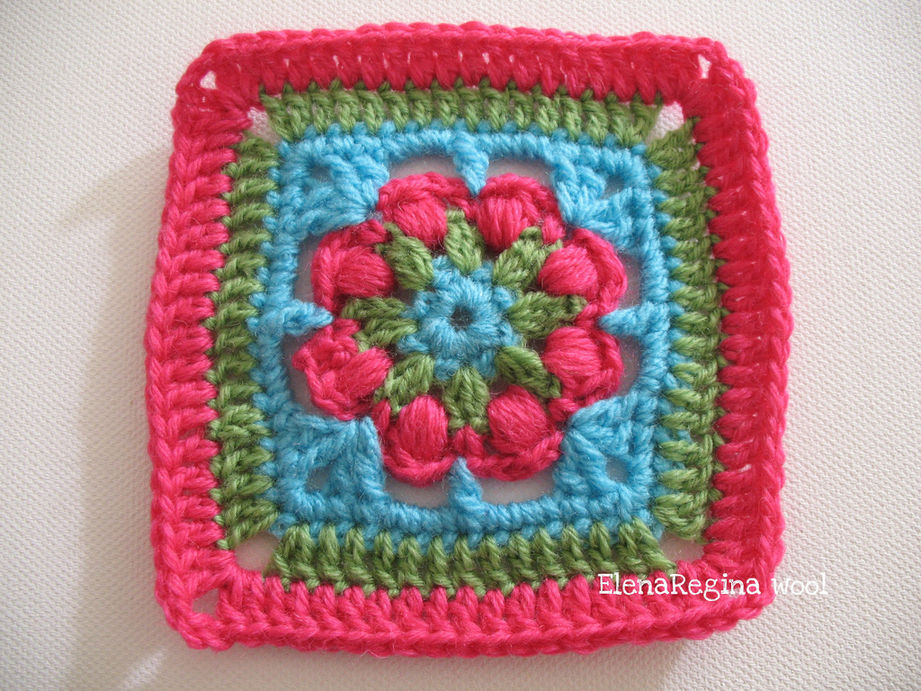 Elenaregina wool: piastrellina regina dei fiori 13