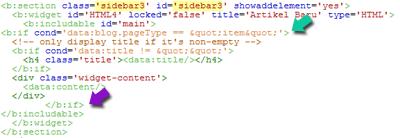 Membuat Widget Artikel Terbaru Tanpa Gambar Valid HTML5
