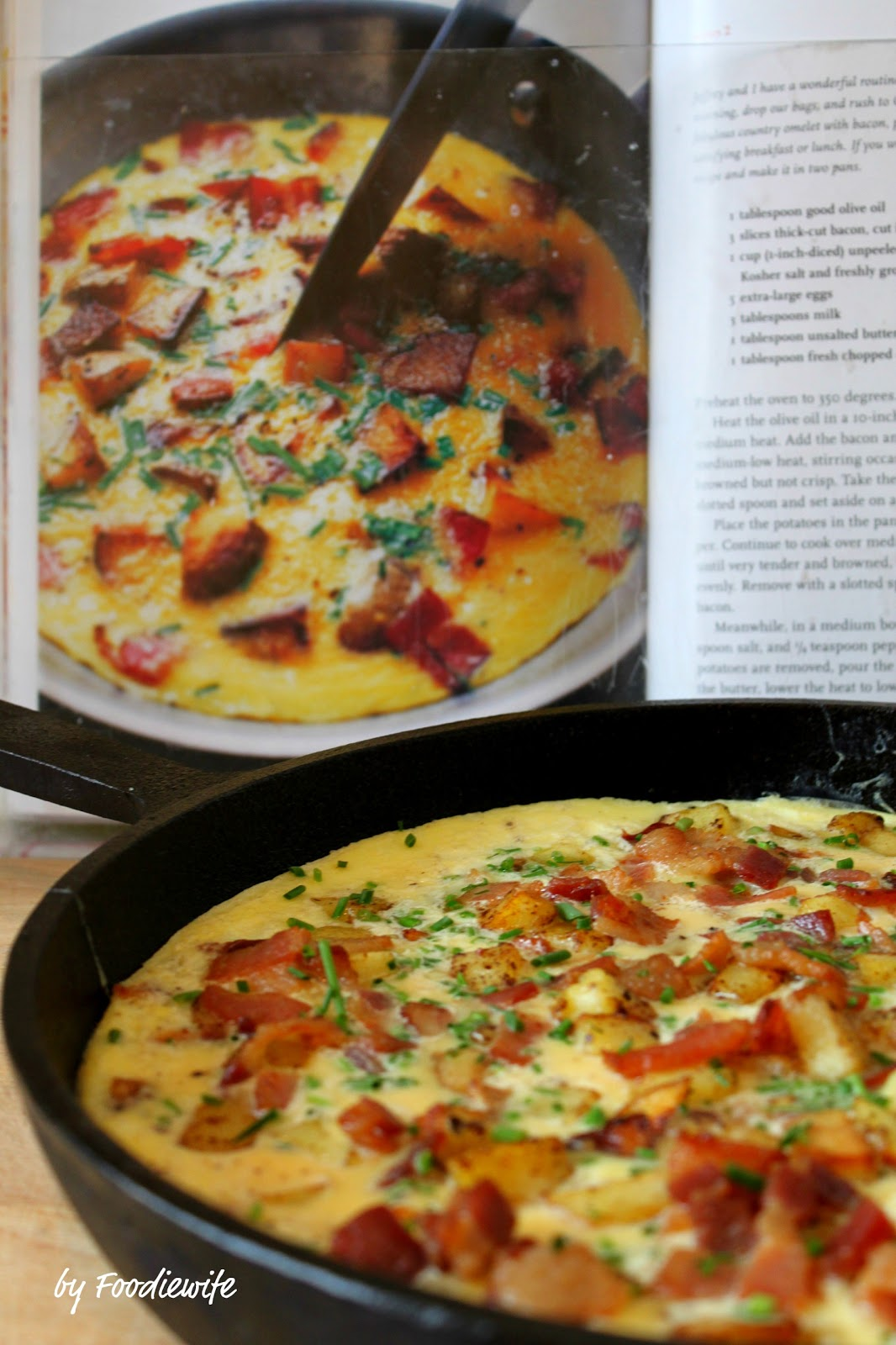 country french omelet bacon potato frittata - Ina Garten Baked Bacon